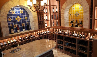 Mexican tile wine room