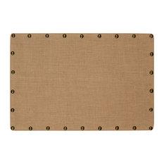 linon home decor products burlap nailhead corkboard medium bulletin boards and chalkboards