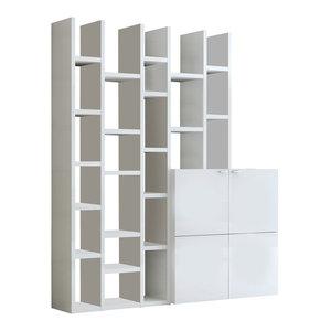 Torero Modular Bookcase, Matte White