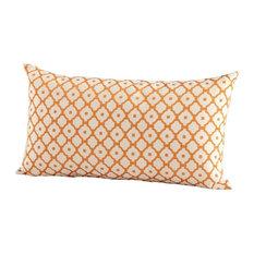 Cyan Design Dot Matrix Pillow, Orange
