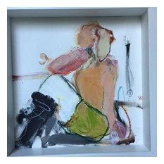 """Leg Warmers 1"" Painting by Lynne Pell, 10""x10"""