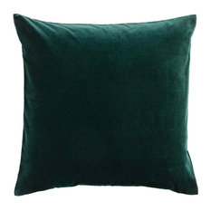 Dark Emerald Velvet Cushion, Hypo Allergenic Microfibre
