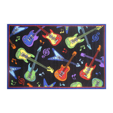 "Guitars Kids Area Rug, 39""x58"", 5 lbs."
