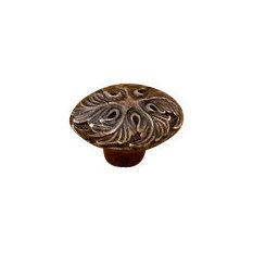 Murano Oval Knob, Byzantine Bronze