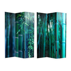 Double Sided Bamboo Tree Canvas Room Divider