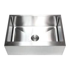 Oversized Stainless Steel Kitchen Sinks Most popular oversized sink houzz for 2018 houzz ariel stainless steel flat front apron single bowl kitchen sink 30 workwithnaturefo