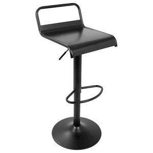 LumiSource Emery Barstools, Set of 2, Black -BS-EMRYBK2