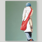 """Girl with a Red Bag"" Canvas"