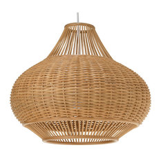 Kouboo Wicker Pear Pendant Lamp Natural Lighting