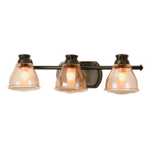 Luxury Farmhouse Bath Vanity Light, Trento Series, Olde Bronze