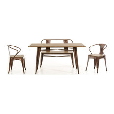 30-inch Steel And Wood Dining Table