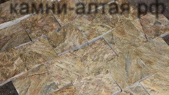 Плитка для облицовки камина из кварцита