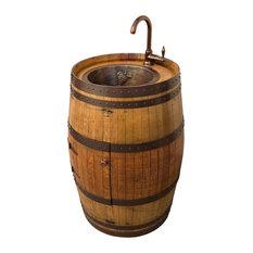 Wine Barrel Vanity with Bar Sink