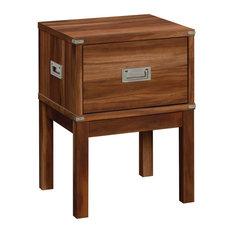 Sauder Vista Key 1-Drawer Wood Night Stand In Blaze Acacia