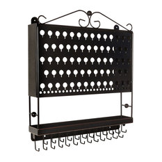 Designers Impressions JR20 Wall Mounted Jewelry Organizer, Oil Rubbed Bronze