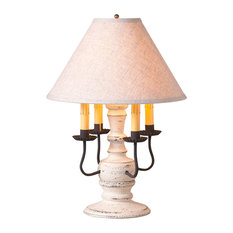 Cedar Creek Lamp in Americana White with Shade