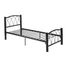 Full Metal Bed With Slats, Black