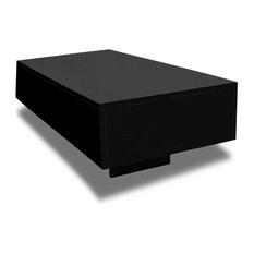 "vidaXL Coffee Table MDF High Gloss Black 33.5"" Accent Tea Side Living Room"