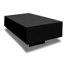 VidaXL Coffee Table MDF High Gloss Black 33.5-inch Accent Tea Side Living Room