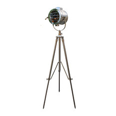 Nautical Signal Tripod Floor Lamp in Stainless