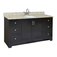 Design House Ventura 60 X21 Vanity 2door 4drawer Espresso Finish Assembly Required