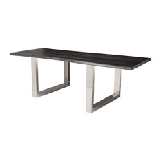 Elyce Dining Table Oxidized Grey 78-inch