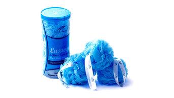 Luxury Bath & Shower Loofahs Mesh Ball, Toss Wash Body Puff - 3-Piece Large Pack