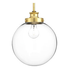 Progress Lighting 1-100W Medium Pendant, Natural Brass