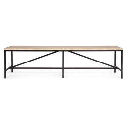 Industrial Dining Benches by Houzz