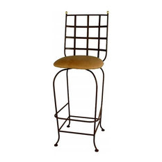 Grace Mfg. Co, Inc.   Westminster Swivel Wrought Iron Bar Stool, 24