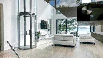 Vuelift ascensore panoramico circolare vista lago | contemporary house lakefront