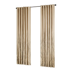 Madison Park Andora Window Curtain With Tan Finish MP40-716