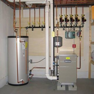 Weil Mclain GV 90 plus high efficiency gas boiler with Superstor ...