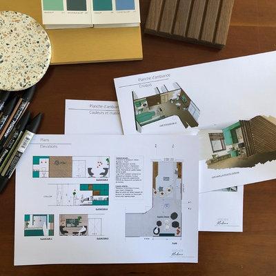 Contemporain Bureau à domicile by Atelier Madame - architecture