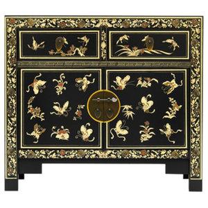 Oriental Decorated Sideboard, Black