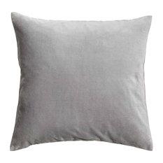 Silver Grey Velvet Cushion, Hypo Allergenic Microfibre