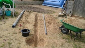 Instalación de piscina estanque