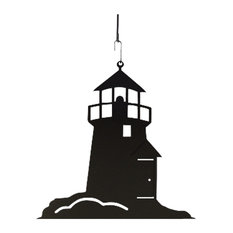 Village Wrought Iron Lighthouse Party Decorative Hanging Silhouette