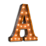 Vintage Marquee Letter by Vintage Marquee Lights