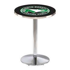 L214 - 36-inch Chrome North Dakota Pub Table By Holland Bar Stool Co.