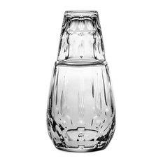 Vista Alegre Crystal Bimini Bottle And Glass Water Set