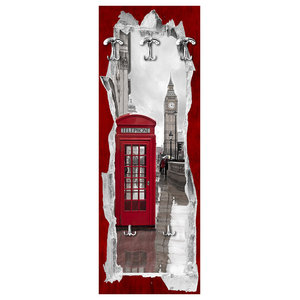 View Of The Telephone Box Wall Coat Rack