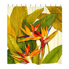Laural Home Tropical Bird of Paradise Shower Curtain