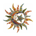Deco 79 Metal Sun Wall Decor, 25-Inch