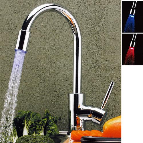 stev single lever led kitchen sink mixer tap chrome kitchen faucets - Kitchen Sink Mixers