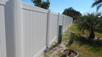 White Vinyl Privacy