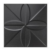 "SomerTile 7.75""x7.75"" Triple Fronteira Ceramic Wall Tile, Case of 25, Black"