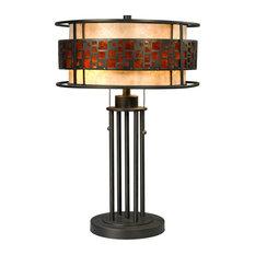Oak Park 2 Light Table Lamp in Java Bronze