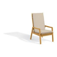 Siena Reclining Armchair, Natural Shorea, Camel Polyester Cushion