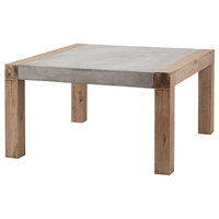 Arctic 31.5-Inch Coffee Table, Atlantic Brushed